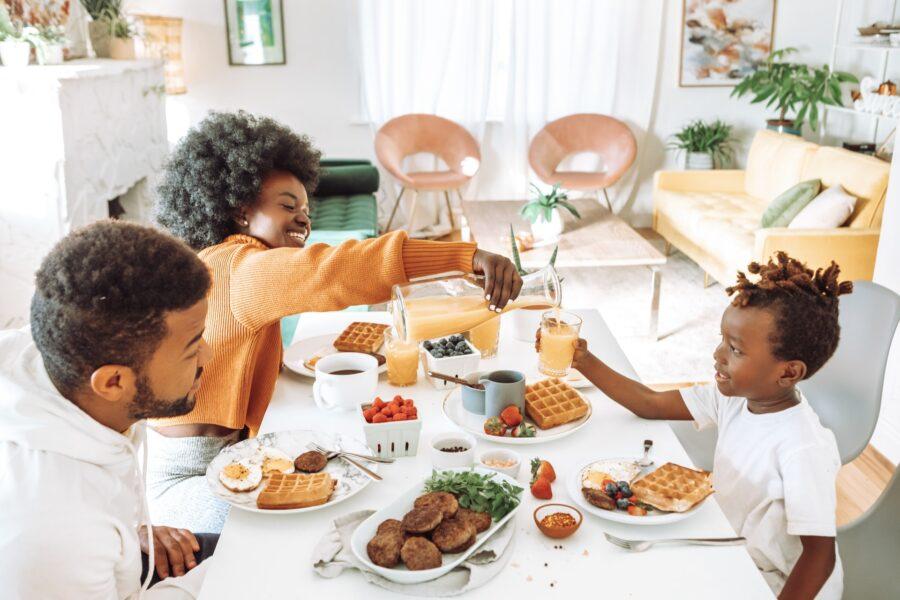 Un repas joyeux en famille, un contexte familial qui aurait pu m'aider dans mon désir d'enfant